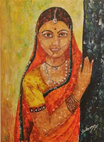 Portraits Gallery art for sale Indian lady