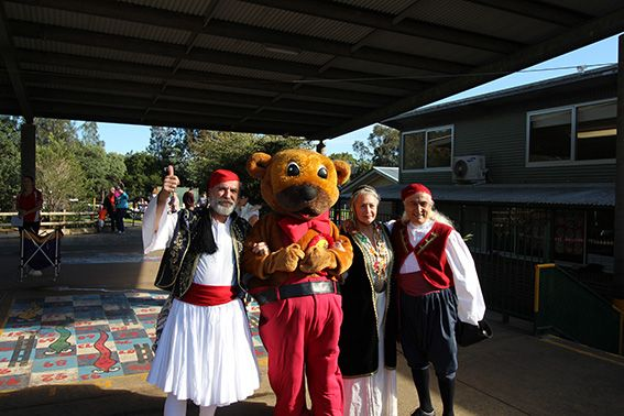 "Mr Hooker Bear at Woodport Public Schools ""Olympathon"" fundraiser- 2016"