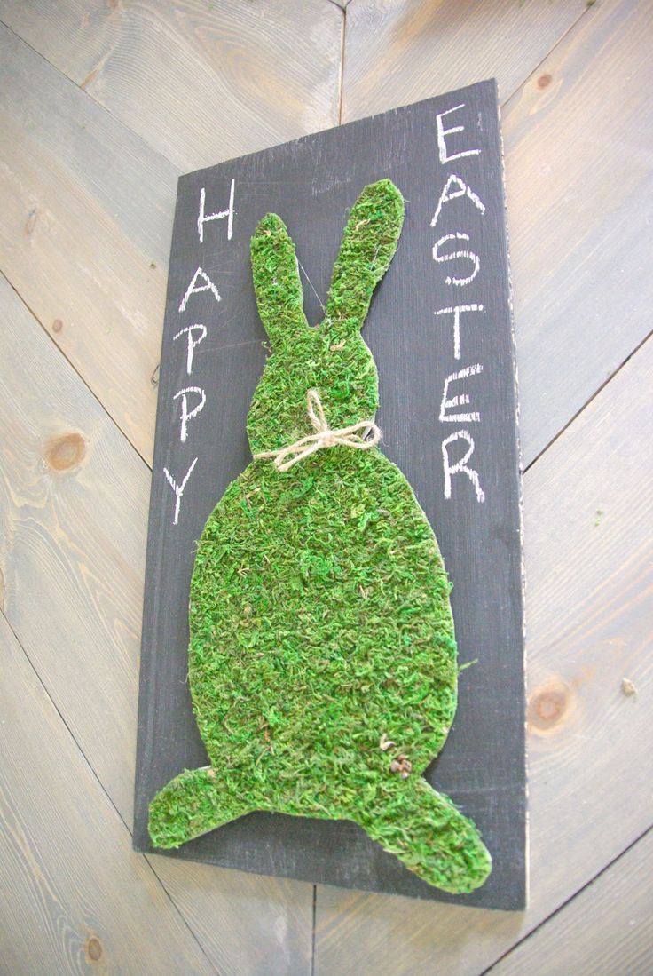Last Minute DIY Moss Easter Bunny