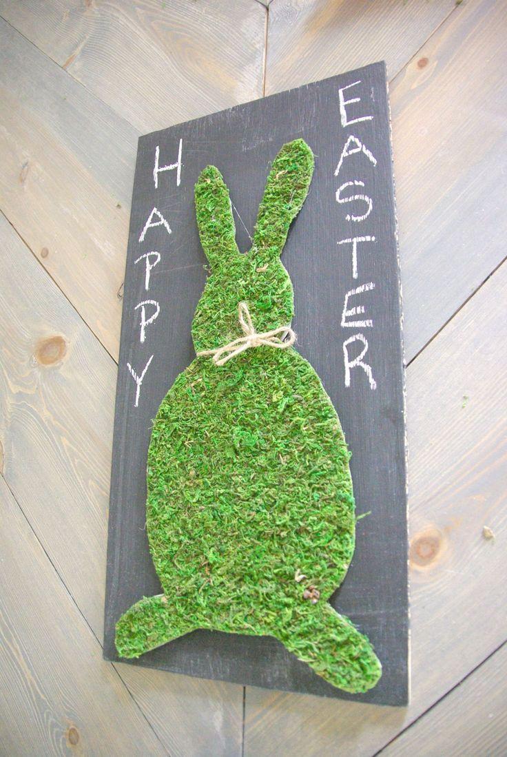 Last Minute DIY Moss Easter Bunny