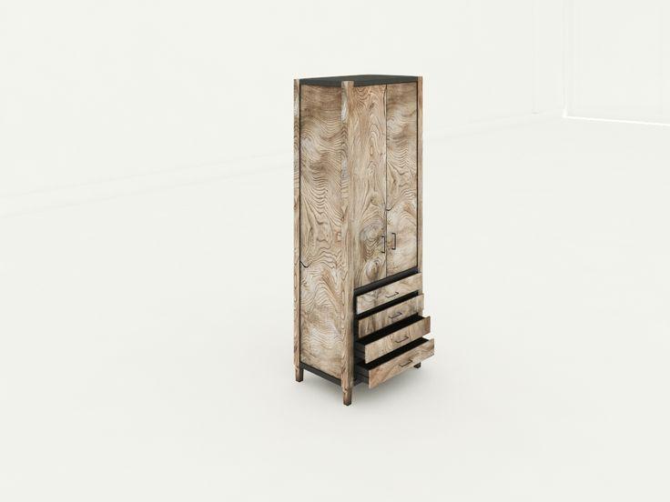 Denir Masif Ahşap Dolap - Benzersiz doğal deseni ve kullnışlı iç tasarımı ile odanıza şıklık katacak doğal masif ahşap dolap. Ürün ölçüleri:45X70X185