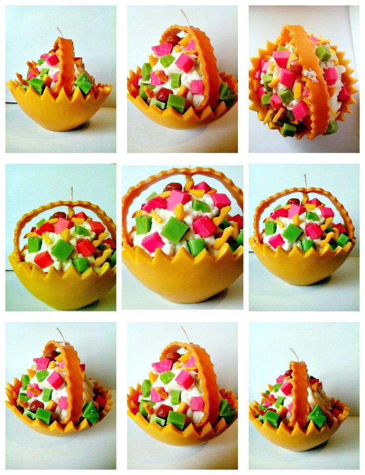 Melon fruit salad candle