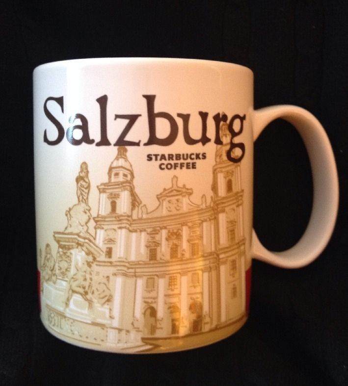 Starbucks Salzburg Icon Mug Austria Salzburger Dom Red White New UPC USA Ship #Starbucks