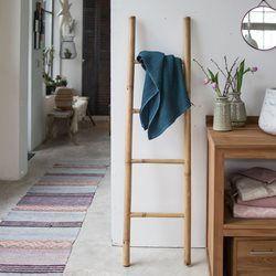 Echelle porte serviette de salle de bain en bambou naturel TIKAMOON - Salle de bain
