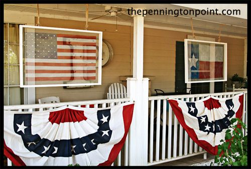Learn how to make these easy, fun screen flags for the porch!