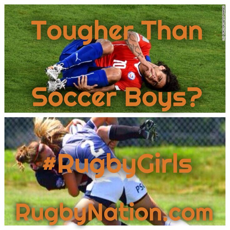 #RugbyGirls are Tougher than #Football #Soccer Men!