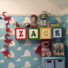 Toy Story themed nursery - I can't even begin to explain how much I love this! - TsumTsumPlush.com Place to Purchase Tsum Tsum Plush Toys