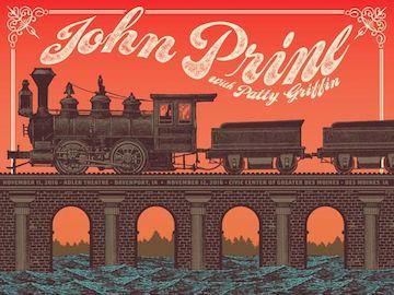 John Prine & Patty Griffin - Iowa 2016 Poster