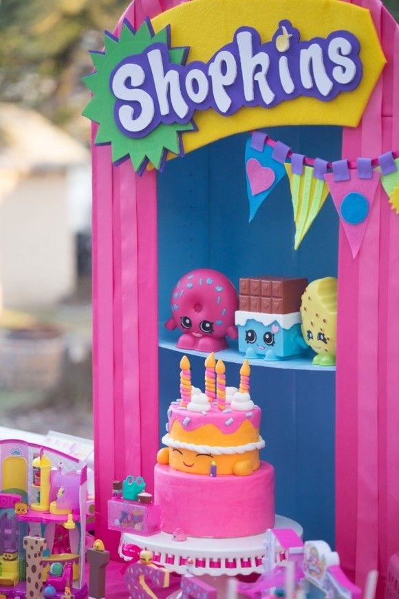 Incredible Shopkins Party Ideas Including This Beautiful Dessert Table! |  CatchMyParty.com Part 64