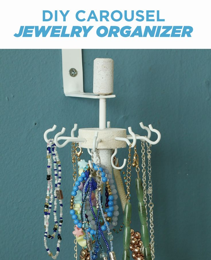 Keep Jewelry Untangled With This DIY Carousel Organizer