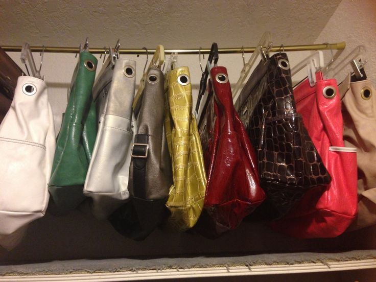 Consider Hanging Your Handbags Or Storing Purses Up High.