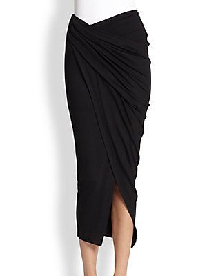 Donna Karan Draped Sarong Skirt