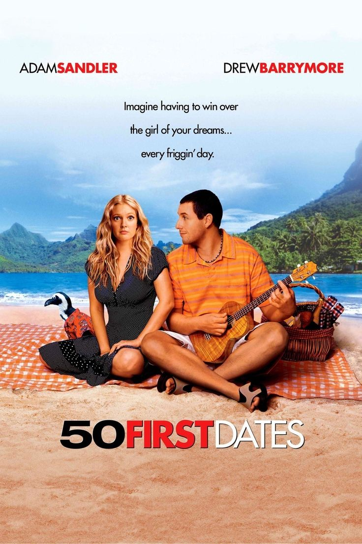 50 First DatesFilm, Romantic Movie, Funny Movie, Adam Sandler, 50 First Dates, First Kisses, Favorite Movie, Watches, Drew Barrymore