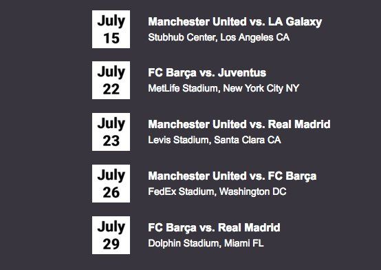 Want to win a $1,460.00 pair of tickets to see Manchester United or FC Barcelona play right here in the USA this July? Try Premium+ free for 30 days for your chance to win.