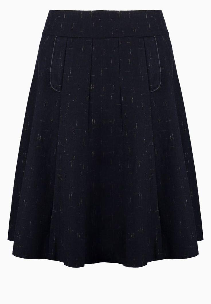 Ein edler Wollrock für den Winter. KALA JANA - A-Linien-Rock - dark blue für 76,95 € (30.10.16) versandkostenfrei bei Zalando bestellen.