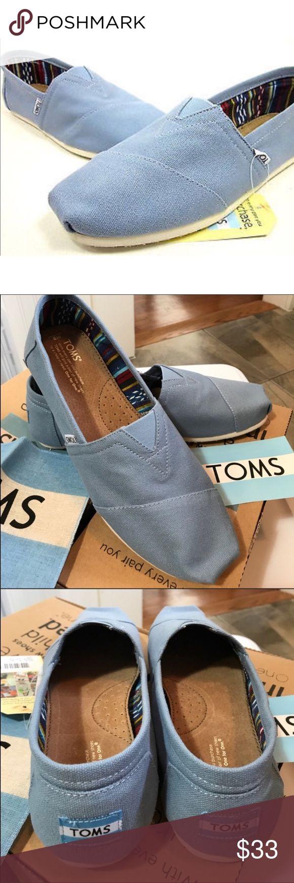 TOMS classics Dusk Blue Men's canvas shoe size 13 TOMS classics Dusk Blue Men's canvas shoe. New in box. TOMS classics Dusk Blue Men's canvas shoe size 13 Toms Shoes