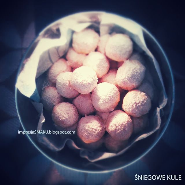 Impresja smaku...: Ciasteczka maślano-migdałowe - śniegowe kule