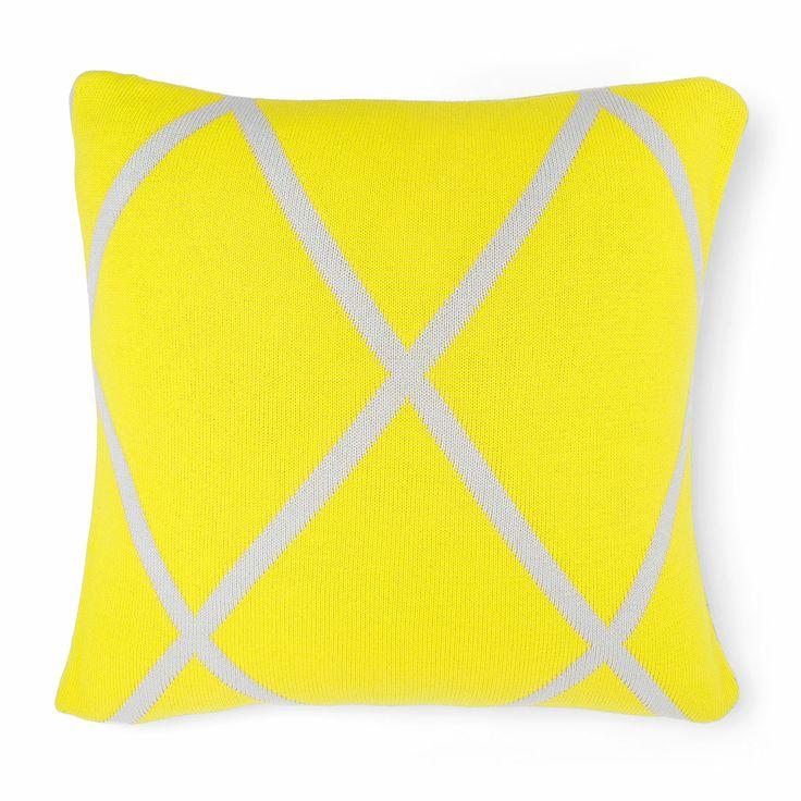 AURA Home, Winter 2014, Diamond Cushion in Bright Yellow.