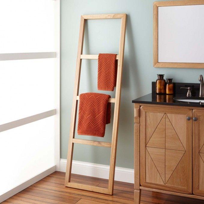 Stokes Teak Ladder Towel Rack