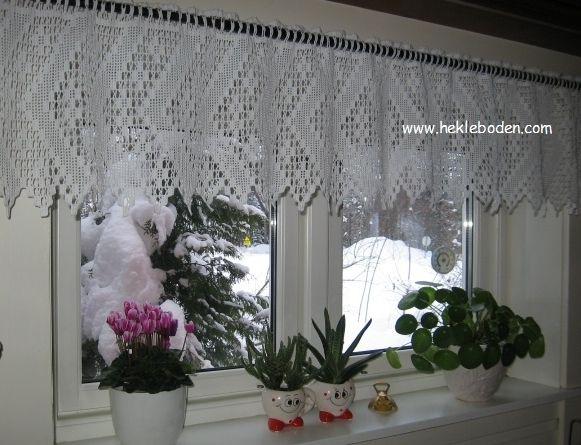 Avansert Heklet gardinkappe | Mitt eget håndarbeid | Curtains, Valance ZA-94