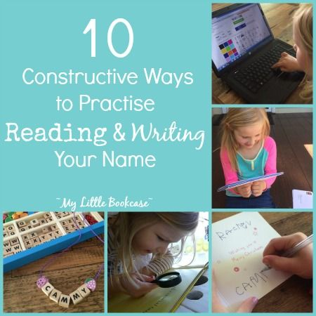 Constructive ways to help your child practise reading and writing her name- My Little Bookcase