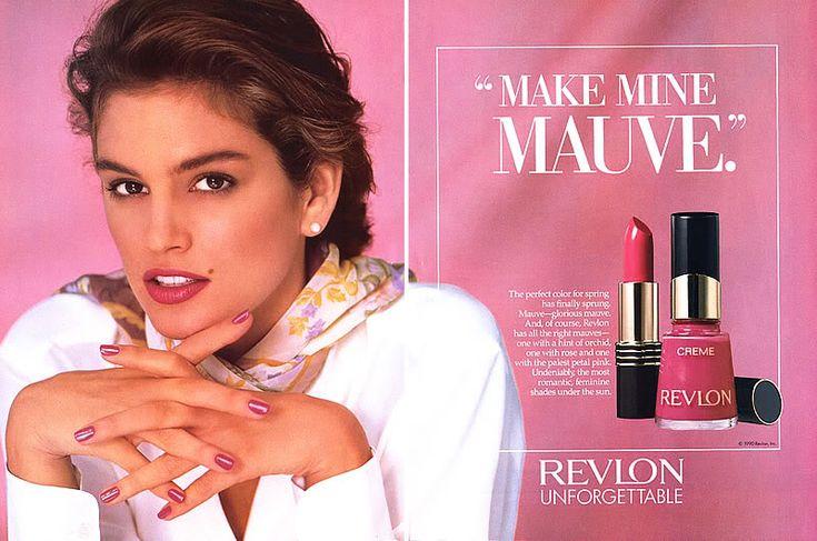 1990 cosmetic ads | 1990 Revlon Cindy Crawford Spring Makeup Magazine Ad | eBay