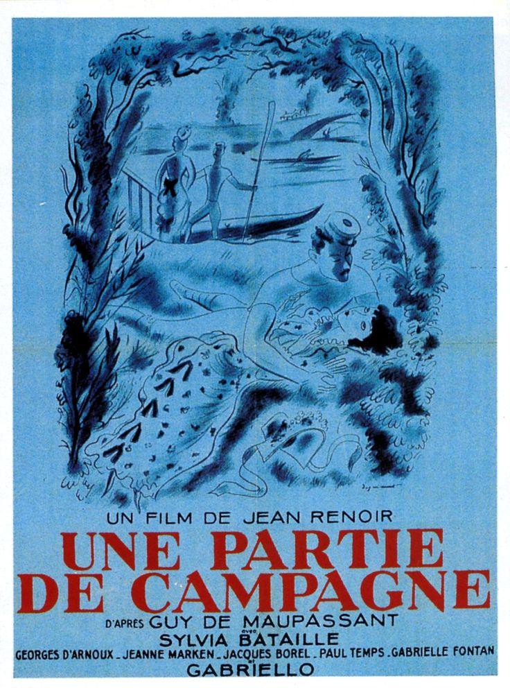 """""""Une partie de campagne"""" de Jean Renoir, programmé le 15/07 à 19h http://www.forumdesimages.fr/les-films/les-programmes/la-jeune-fille/partie-de-campagne-prec.-de-fatty-boucher"""