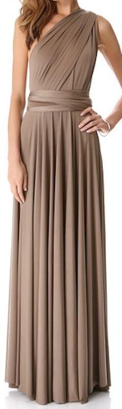 One shoulder bridesmaids dress