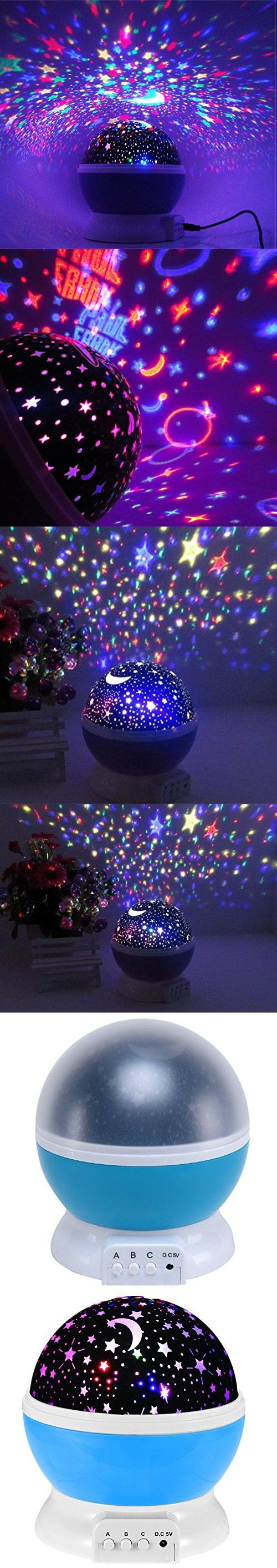 Bedroom planetarium projector for kids - Star Projector Galaxy Nightlight Starry Projection Lamp Space Night Light Moon And Stars Sky Ceiling Projector