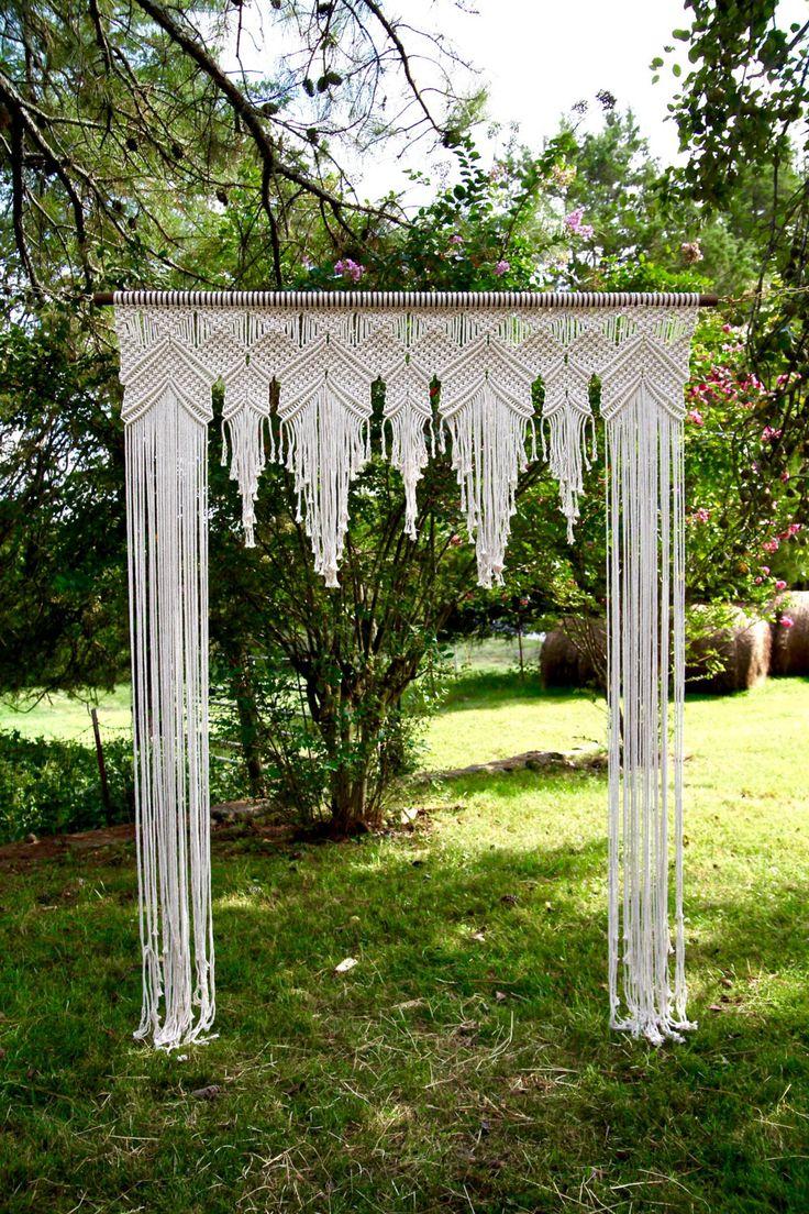NEW Macrame Wedding Arch 6' x 8' Natural White by BermudaDream