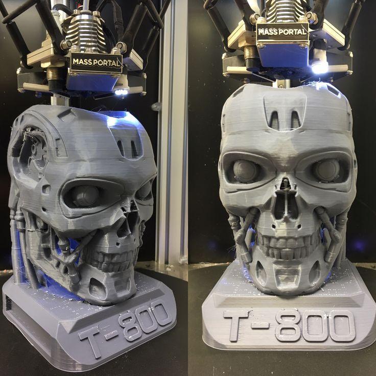 Terminator kynäteline tulostettu ABS filamentilla. #massportal #abs #filament #terminator #3dprint #3dprinting
