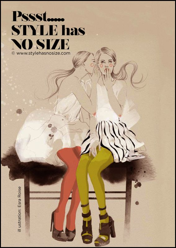 style has NO size  Esra Roise  All fashions do not fit every size  All plus size fashions should not look like  vintage flour sacks