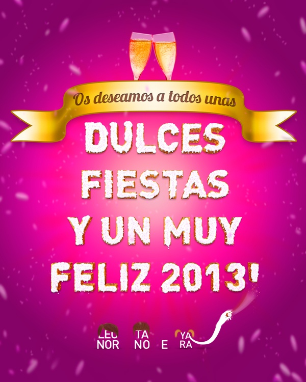 Felices fiestas, feliz 2013! by Leonor Manso, via Behance