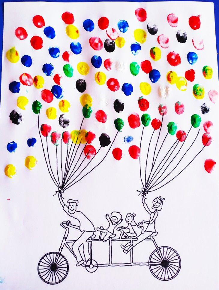 Parmak Boyasi Balon Yapimi Bisiklet Sanat Etkinlikleri Okul