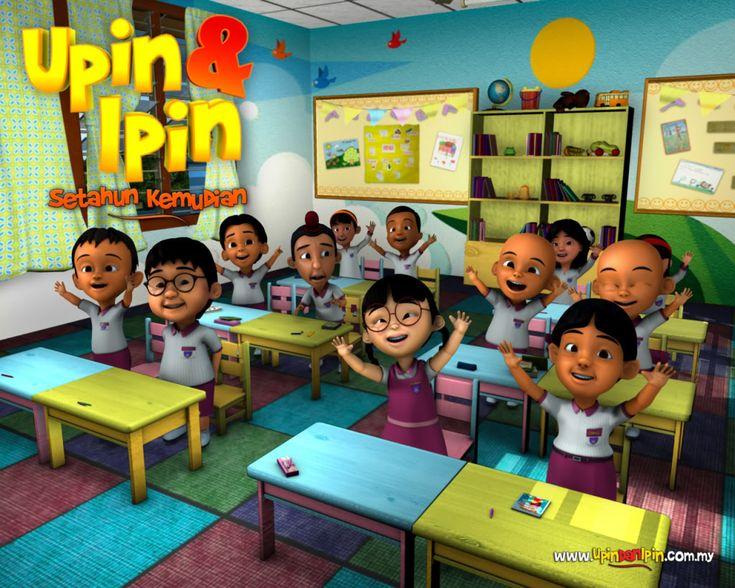 Upin Ipin at School - http://www.cartoonography.com/222-upin-ipin-at-school-2.html