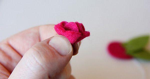 Sweet little felt flowers for headbands | Felted | Pinterest | Felt Flowers, Felt Flower Tutorial and Felt