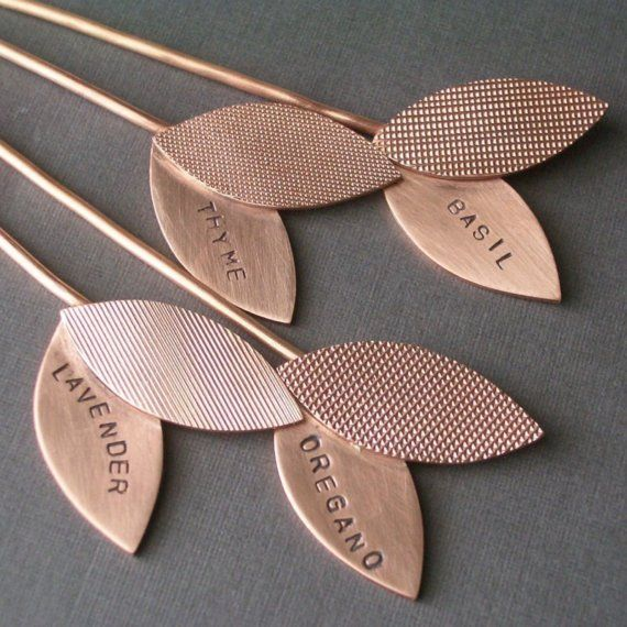 Plant markers. one petal common name, the other petal scientific name (or variety) love this idea.