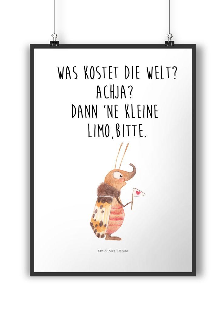 Poster DIN A4 Nachtfalter mit Fähnchen aus Papier 160 Gramm weiß – Das Original von Mr. & Mrs. Panda. Jedes wunderschöne Poster aus dem Hause Mr. &…