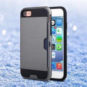 Husa  iPhone 7, Combo Cover, Silicon + PC, Gri