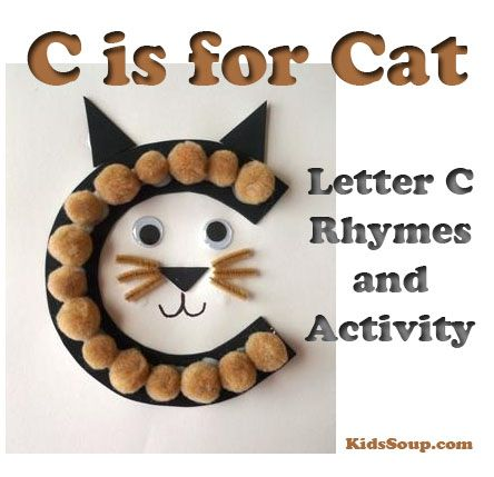 """Your preschooland/or kindergarten students will have fun creatingour C Is for Cat letter craft and letter-sound association activities for the hard """"Cc"""" sound as in """"cat."""" C Is for Cat Letter Craft What you need:"""