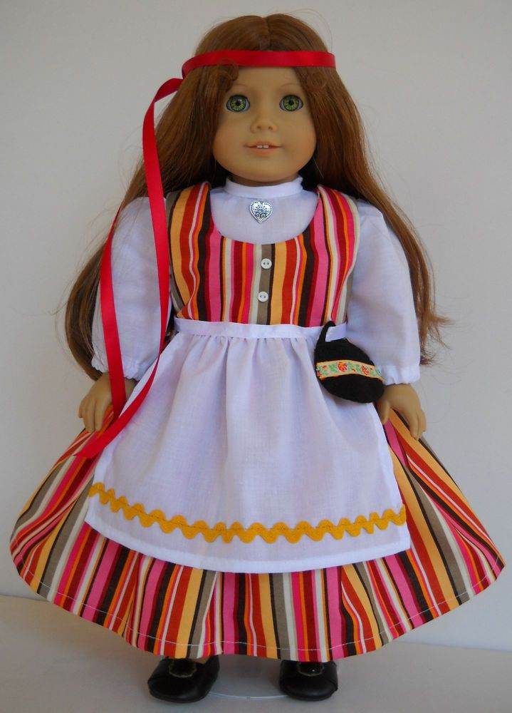 """Fits 18"""" American Girl doll Finnish Finland folk dance clothes E (COSTUME ONLY)"""