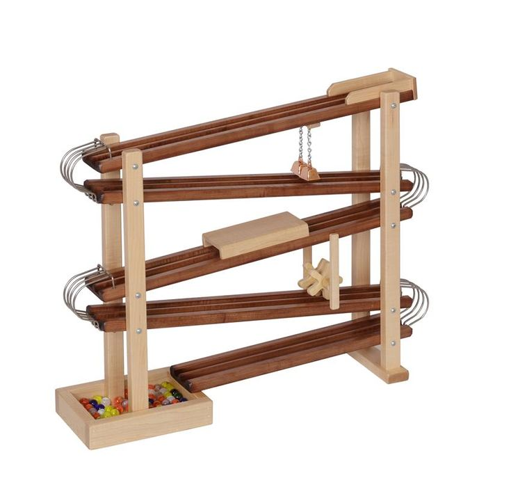 American Made Wooden Toy Marble Flyer Handmade wooden toys are the best for creative play.