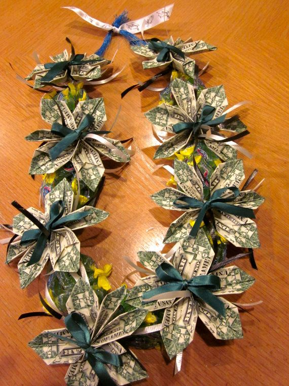 Beautiful Candy Money Lei for Graduation