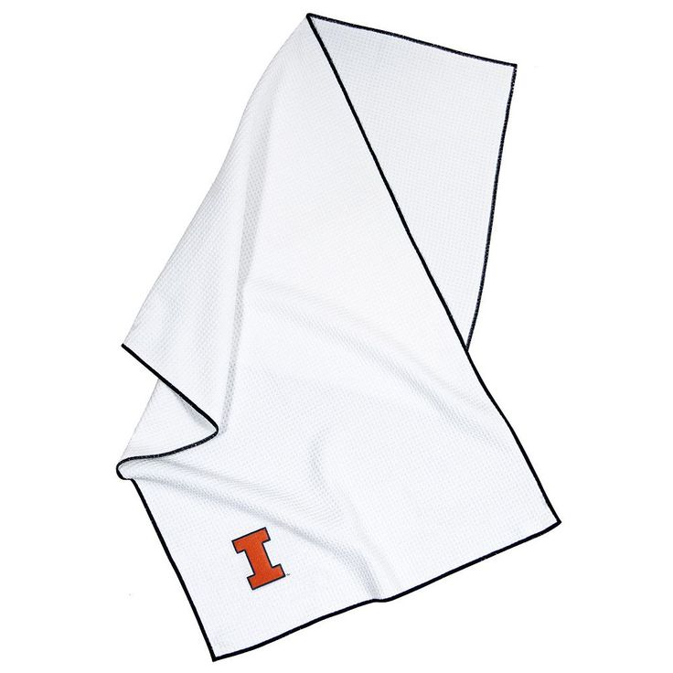 Team Effort Illinois Fighting Illini Microfiber Golf Towel, Multicolor