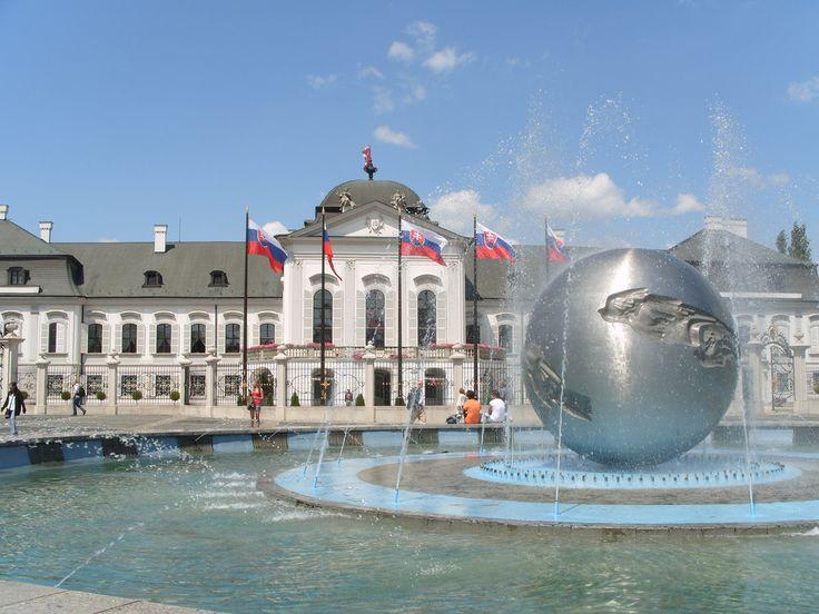 The presidential palace in Bratislava, Slovakia http://timeforslovakia.com/best-of-bratislava