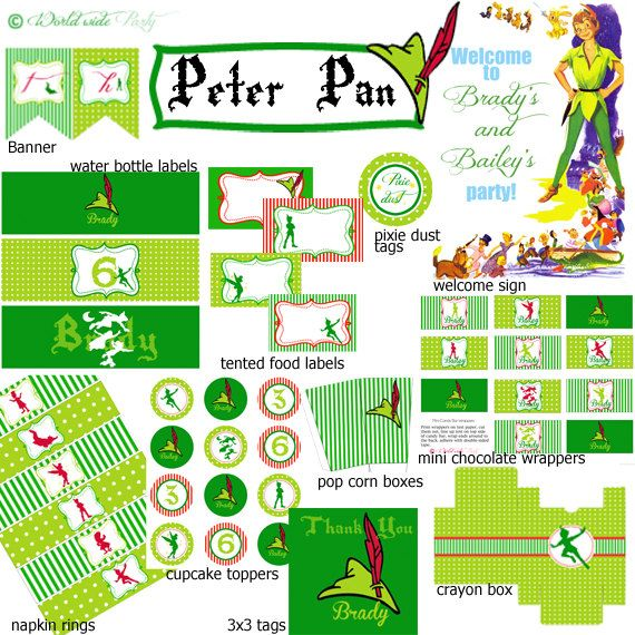 Peter Pan Party Printable KIT
