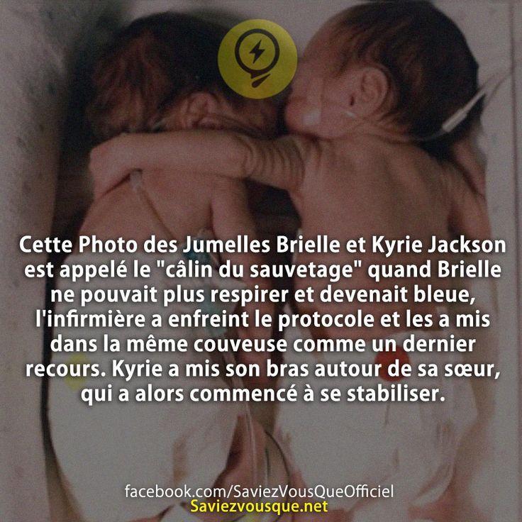 """Cette Photo des Jumelles Brielle et Kyrie Jackson est appelé le """"câlin du…"""