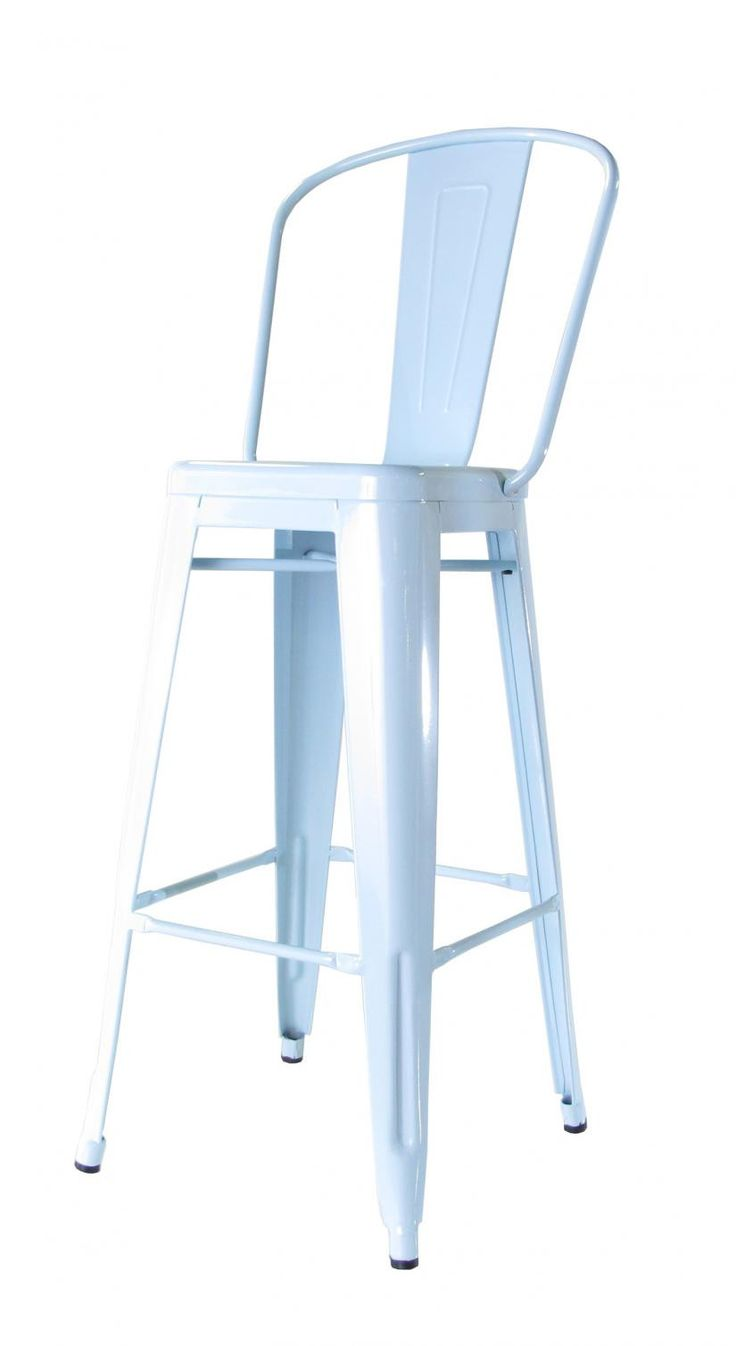 bouchon bar stool with back blue