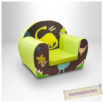 Dinosaurs Blue Childrens Kids Comfy Foam Chair Toddlers Armchair Seat Boys Chair in Home, Furniture & DIY, Children's Home & Furniture, Furniture | eBay