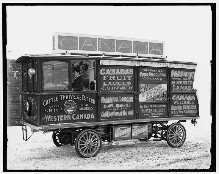 Motor car, Canadian Government Colonization Co. c. 1900-1905